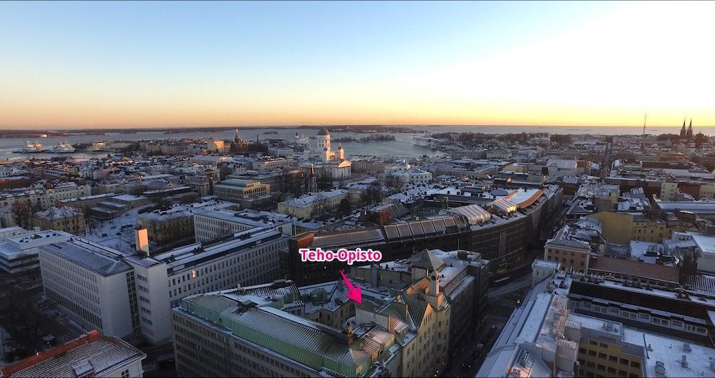 Helsinki skyline ja Teho-Opisto