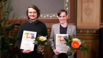 Roberto Aarnio ja Jesse Tielinen voitiivat Valtiovarainministeriön Kaikki minusta -datavisualisointikilpailun helmikuussa 2016.