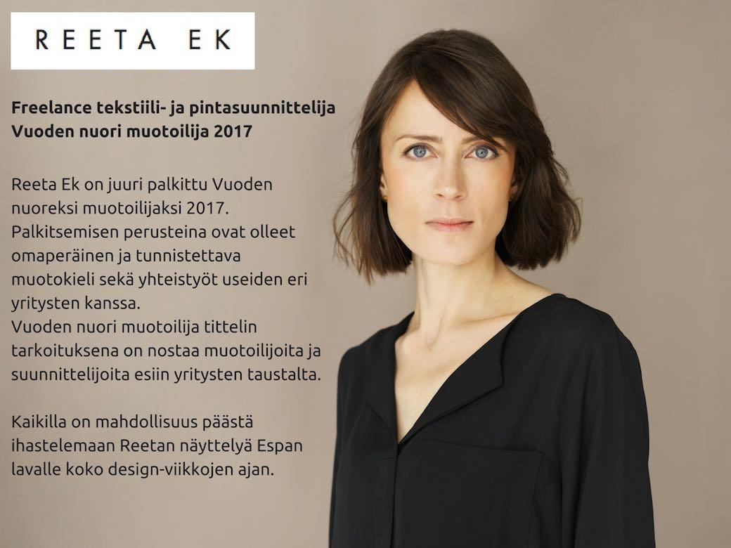 Habitare 2017: Vuoden nuori muotoilija Reeta Ek