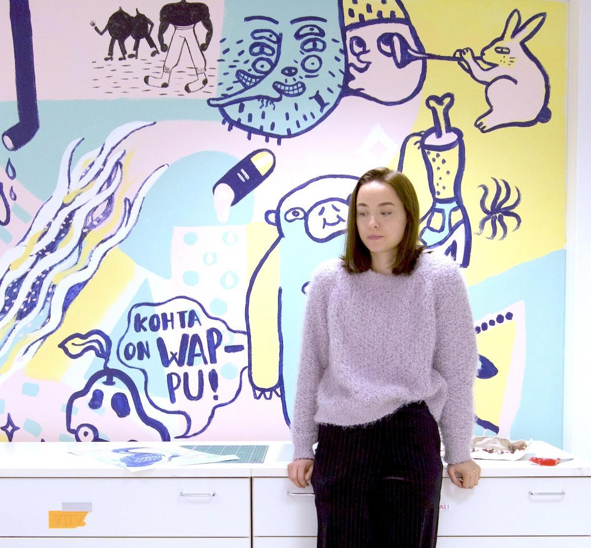 Graafinen suunnittelija Anni Sairio