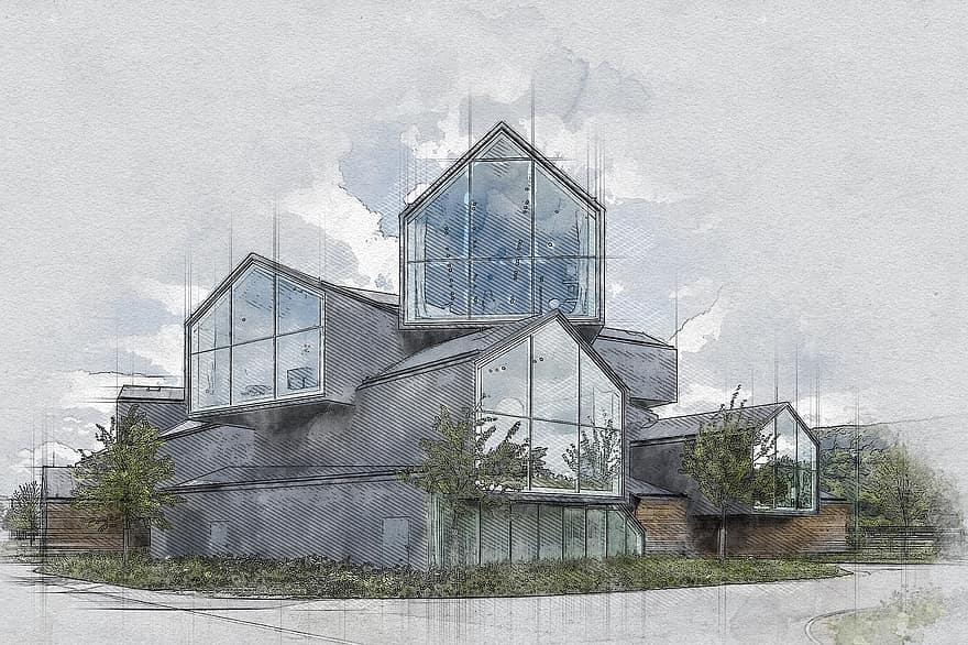 Tämän kuvan alt-attribuutti on tyhjä; Tiedoston nimi on architecture-museum-modern-architecture-building-glass-modern-icon-landmark-digital-sketch.jpg